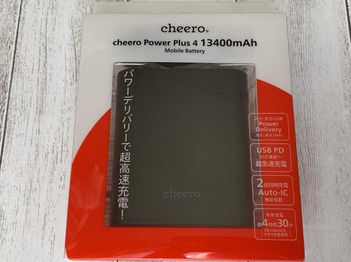 cheero power plus4レビュー